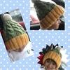 棒針編み  セリアの毛糸で編むニット帽の作り方  memo