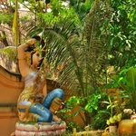 「チェンラーイ」の街中の見所ポイントをビーチ?~寺院を廻るのに、ホテルの自転車を借りて!!