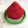 スイカの麦わら帽子の作り方☆編み図あり