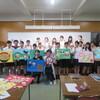 鹿女短の学生さんたちと、紙芝居「西郷さんと大豆の豆助」を作りました。