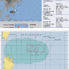 【台風20号の卵】気象庁の予想では24時間以内にフィリピンの東で熱帯低気圧(TD21W)が台風20号『ノグリー』になる見込み!気象庁・米軍・ヨーロッパ中期予報センターの進路予想は?南東には台風21号の卵(97W)も存在!