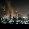 水島コンビナートの工場夜景