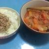 おっさん晩飯日記1品目 鶏肉のトマト煮