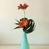 一年中ある花材で花活け