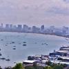 「パタヤヒル ビューポイント」~の色々な船が停泊しているパタヤ湾の眺望が何とも最高!!