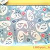【セリア】一目惚れの即買い!白鳥モチーフのフリーケース。
