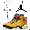 "【リーク】スニーカーリーク情報  ""TRAVIS SCOTT × NIKE AIR JORDAN 6 YEELOW F&F MODEL"""