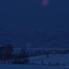 夜明けの満月