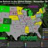 医療大麻が合法化された16州の年表