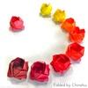グラデーションが美しい、ちなちゃんの川崎ローズ/Colorful Kawasaki Rose folded by Chinatsu-chan