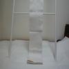 【半幅帯/半巾帯】オフホワイトで猫柄の浴衣帯