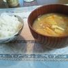 今日のひとり夜ゴハンは今朝作った豚汁やよ~(*´▽`*)ノ