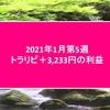トラリピ2020年1月第5週3,233円の利益