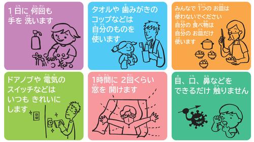 やさしい日本語で伝えるコロナ対策