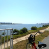 大和川ジョギングコース河口標識までママチャリで走ってきた!川と海の狭間を見よ!【大阪市&堺市】