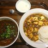 紅虎餃子房イオン板橋ショッピングセンターの麻婆豆腐飯と黒胡麻担々麺のセット