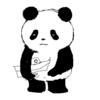 夏は突然終わるから パンダのイラスト