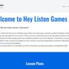 授業で使えるかも?:ビデオゲームを取り入れた授業案とスライドを提供する「Hey Listen Games」