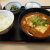 松屋の豆腐キムチチゲ膳 生玉子 2017年バージョンを食べる