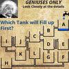 どのタンクが最初に満杯になるか?