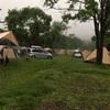 戸隠キャンプ場に到着しましたが…ものすごい雨でした(><)