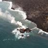 ハワイ島・キラウエア火山の溶岩が海に流入して新島を形成!新島は海岸から数mの位置にあって直径6~9m!!