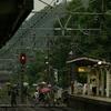初秋の雨(北鎌倉駅)