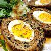 【低糖質ひじきハンバーグ】パン粉不使用の和風スコッチエッグ