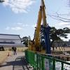 金沢城の内堀補修工