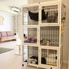 猫が快適に暮らすためにケージに置くもの ナチュラルワン3段ケージ