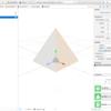 iOS で SceneKit を試す(Swift 3) その26 - ビルトインジオメトリ SCNPyramid(三角錐)