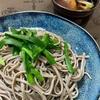 韮蕎麦、舞茸ごはん&山椒の佃煮