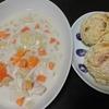 シチュー、豆腐パン