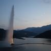 寒河江ダム(月山湖大噴水ライトアップ)