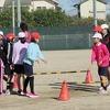5年生:体育 長なわ練習 運動場と体育館で
