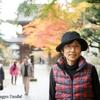 日本 背景は谷汲山華厳寺の山門