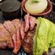 肉屋の量り売り食堂 听屋 (POUND-YA ポンドヤ)で黒毛和牛ステーキとハンバーグをじゅぅっ