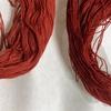 茜色は染め重ねて、真紅色の糸を。