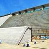 厚幌ダム(建設中)(3)-堤体直下