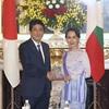 首相、スー・チー氏に8千億円規模の支援を表明