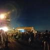 ある夏の日の夜のパノラマ写真
