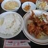 金沢市のイオンタウン金沢示野店敷地内にある本格広東料理のお店、金鼎(きんてい)で油淋鶏定食。