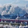 電車と雪と私。