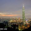 象山から見た台北市内の夜景