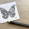【Zentangle】蝶々とゼンタングル