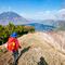 中禅寺湖を望む登山 半月山─社山