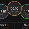 ジョギング20.10km・【岩本式サブ3.5メニュー第1週目】ビルドアップ走