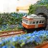 箱根登山鉄道 アジサイのジオラマを作ってみた03