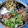 岩魚丼とカンパーニュとオニオングラタン、そしてお米のお菓子