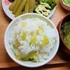 【春のふき定食】ふきご飯の作り方。